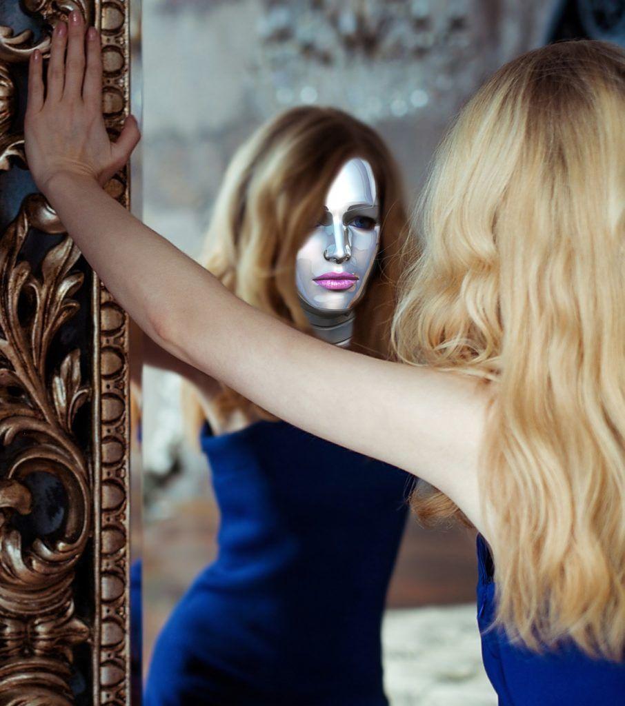 Mujeres soledad espejo